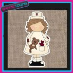CUTE NURSE DESIGN JUTE  SHOPPING LADIES GIFT BAG 003